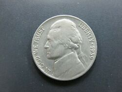 1939 Jefferson Nickel Double Die Reverse Ddr Monticello Letters Doubled T9