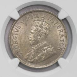 Ngc-ms62 1927 South Africa 2.5shillings Silver Key Date Luster Unc