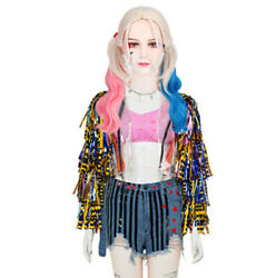 Birds of Prey Harley Quinn Cosplay Women's Adult Costume Jacket Shorts amp; Shirt $39.99