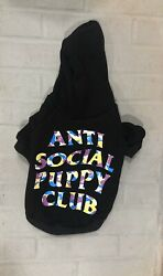 Anti Social Puppy Hoodie Sz. XL Dog clothes for SMALL DOGS $30.00