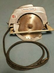 Vintage Rockwell Porter Cable 8 1/4 Circular Saw Model 5750 With Case