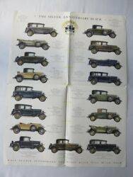 1929 Buick Master Six Sales Brochure Catalog Poster Phaeton Coupe Roadster +