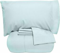 Sweet Home Collection 5 Piece Bag Comforter Set Solid Color All Season Soft Down