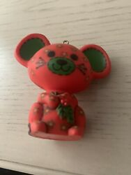 Vtg 1978 HALLMARK TREE TRIMMER RED CALICO MOUSE CHRISTMAS TREE ORNAMENT