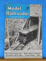 Model Railroader Magazine 1947 April Make Trees Modern Station And Tower Loco And Ca