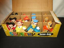 Walt Disney Mickey Mouse Pinocchio Donald Gund Squeeky Toy Factory Sample