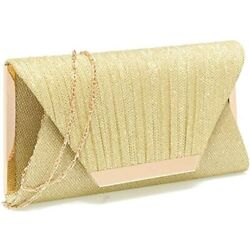 Gold Clutch Purses For Women Evening Bags And Clutches Handbags Purse Gold $39.95