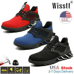 US Indestructible Safety Work Shoes Steel Toe Boots Lightweight Sneakers Mens $32.99