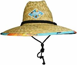 WAVE RUNNER Men#x27;s Beach Straw Hat Wide Brim Sun Hat with UPF 50 Protection $28.99