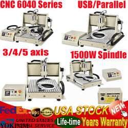 Usb 3/4 Axis 1500w Cnc 6040z Engraving Drilling Machine 3d Cutter Engraver 1.5kw
