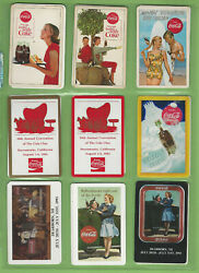 T305.  Lot Of Coke Coca Cola Playing Cards, Tazos And Coasters