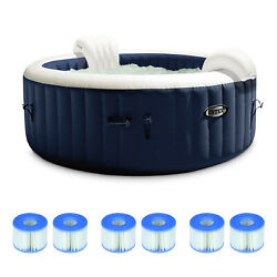 Intex Purespa Plus 6 Person Inflatable Hot Tub With 6 Type S1 Filter Cartridges