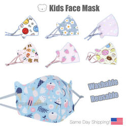 Face Mask Kids Toddler Reusable Washable Cover Breathable Protection $9.99