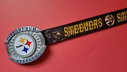 Pittsburgh Steelers Genuine Leather Belt And Licensed Epoxy Steelers Buckle