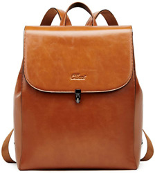 CLUCI Backpack Purse for Women Oil Wax Leather Vintage Travel Large Fashion Desi