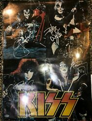 Kiss Destroyer Chopper Motorcycle Vintage Poster Autographed Signed Bas Loa Coa
