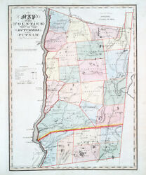1841 Map Of Dutchess And Putnam County New York