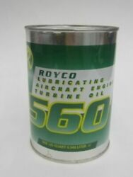 Royco 560 Lubricating Aircraft Engine Turbine Oil 1 Quart Helicopter Lube Grease