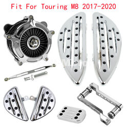 Chrome Floorboard Footpeg Shift Lever Linkage Brake Pedal Air Filter Fit For M8