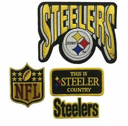 Pittsburgh Steelers Nfl Iron/ Sew On Patch Set 4 Pc Stl2