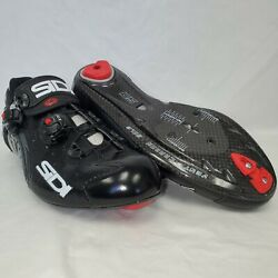 Sidi Wire Vent Carbon Road Cycling Bicycle Shoes Black Size 42 Eu / 8.25 Us New