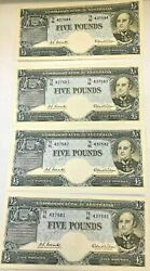 Australia 1960 5 Pounds First Prefix Let Tb Last Issue Consec. 4 Very Rare
