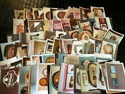 Photo Lot Qty-160 Prototype Advertising - Miscellaneous Beer Signs Clocks Etc