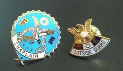 Set Of 2 Pins Foe Outside Guard And Foe Chaplain Of Fraternal Order Of Eagles
