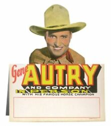 Vintage Original Gene Autry Movie Appearance Counter-top Standee Easel Sign 1930
