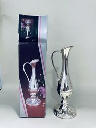 Vintage Silver Plated Bud Vase Pmc Branded Style No 400 With Original Box