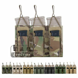 Emerson Tactical Triple Open Top 5.56 And Pistol Molle Magazine Mag Pouch Holster