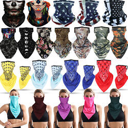Summer Breathable Neck Gaiter Tube Bandana Scarf Face Cover Ear Loop Balaclava $12.99