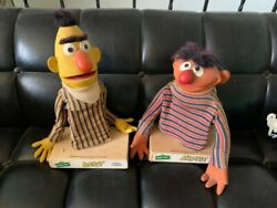 Sesame Street Vintage Bert And Ernie Doll Puppets Rare App 50 Years Old