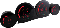 Koso Hd-03 Red Led Four Piece Fairing Gauge Set 14-20 Harley Touring Flhx Fltrk