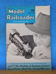 Model Railroader Magazine 1947 March Realism Of Engineer Control Signal Tower