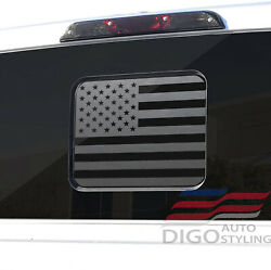 2015-2021 Ford F150 F250 F350 Back Middle Window American Flag Decal Sticker Blk