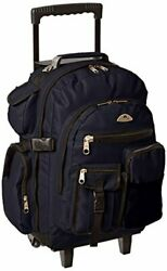 Large Backpack On Wheels Everest Deluxe Wheeled Backpack Navy One Size $63.95