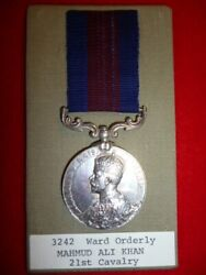 India Distinguished Service Medal - 21st Cavalry, To Ward Orderly, Indian Army