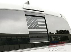 2016-2021 Toyota Tacoma Rear Middle Window American Flag Decal Sticker Matte Blk