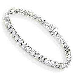 Excellent Charm Tennis Bracelet For Women's Real Sterling Silver 925 7.25''in