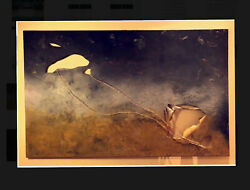 The name of the painting is (smoke of death) Abstract art in acrylic colors On a
