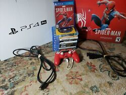 Sony Playstation 4 Pro Marvel's Spiderman 1tb Limited Edition Console And More