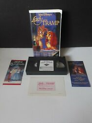 Vintage Walt Disney's Classic Lady And The Tramp Vhs Rs Black Diamond Clam
