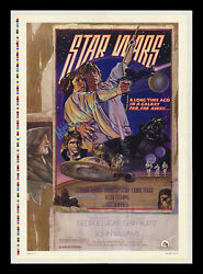 Mint Rolled Star Wars D 1978 1-sheet Movie Poster ☆ Color-bar Printerand039s Proof
