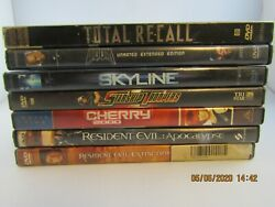 Lot Of 7 Sci Fi Dvd Movies- Total Recall-skyline-2 Resident Evil Movies-etc.