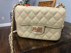 Quilted Faux Leather Crossbody Purses $29.99