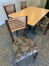Table And Chair Sets, Grand Rapids Chair Co., Tan Wood, 4' X 28,