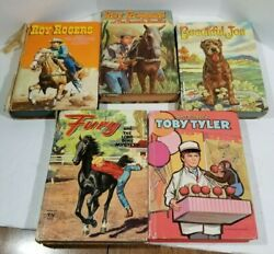 Vintage Books Lot 5 Epherma Junk Journal Cover Crafts Roy Rogers 1954-1960 As Is
