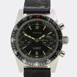 Gents Lator Incabloc Stainless Steel Watch