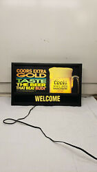Coors Extra Gold Lighted Welcome Sign